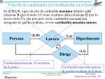 vincoli di cardinalit ed ereditariet su relazioni
