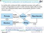 vincoli di cardinalit ed ereditariet su relazioni1