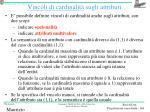 vincoli di cardinalit sugli attributi