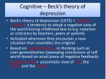 cognitive beck s theory of depression