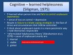 cognitive learned helplessness siligman 1975