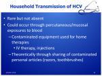 household transmission of hcv