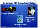 un common hcv transmission modes
