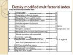 detsky modified multifactorial index