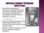 vietnam combat veterans with ptsd