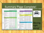 summary page complete