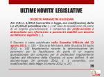 ultime novita legislative