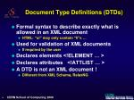 document type definitions dtds