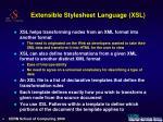 extensible stylesheet language xsl
