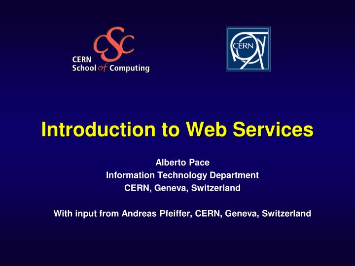 introduction to web services n.