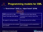 programming models for xml