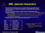 xml special characters