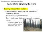 population limiting factors1
