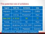 the potential role of antidotes