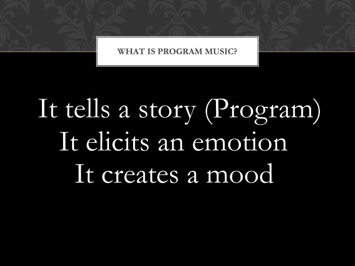 What is program Music?