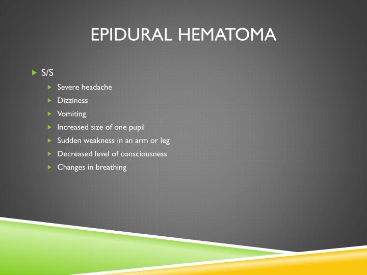 Epidural hematoma1