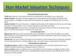 non market valuation techniques