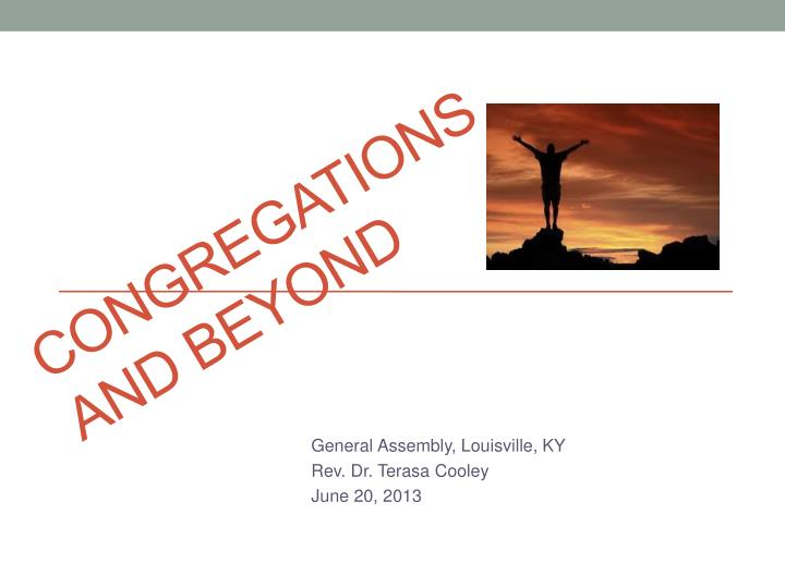 congregations and beyond n.