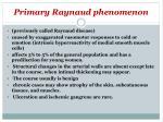 primary raynaud phenomenon