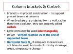 column brackets corbels