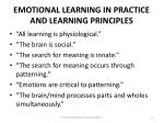 emotional learning in practice and learning principles
