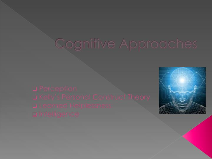 cognitive approaches n.