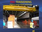 pre tensioning remove girder from casting bed