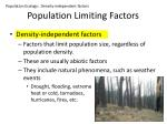 population limiting factors1