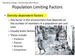 population limiting factors2