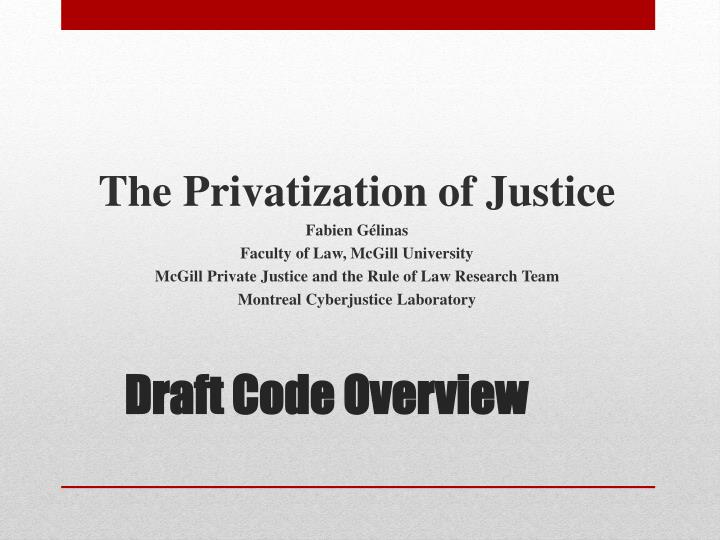 draft code overview n.