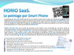horio saas le pointage par smart phone