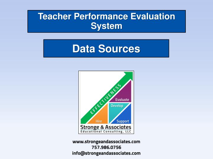 teacher performance evaluation system n.