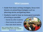 mini lessons