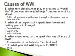 causes of wwi1