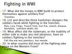 fighting in wwi