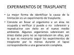 experimentos de trasplante
