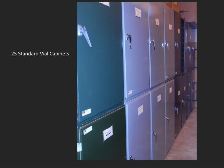 25 Standard Vial Cabinets