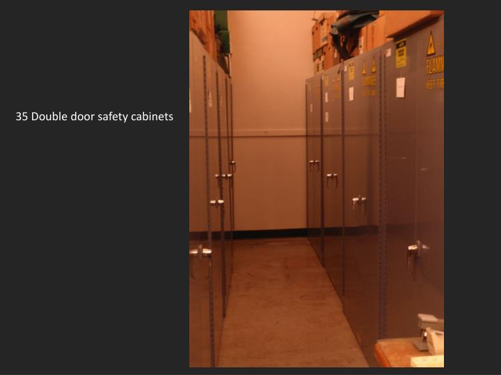 35 Double door safety cabinets
