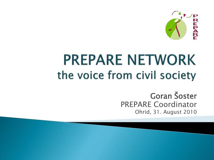 prepare network the voice from civil society n.