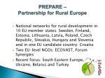 prepare partnership for rural europe