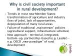 why is civil society important in rural development
