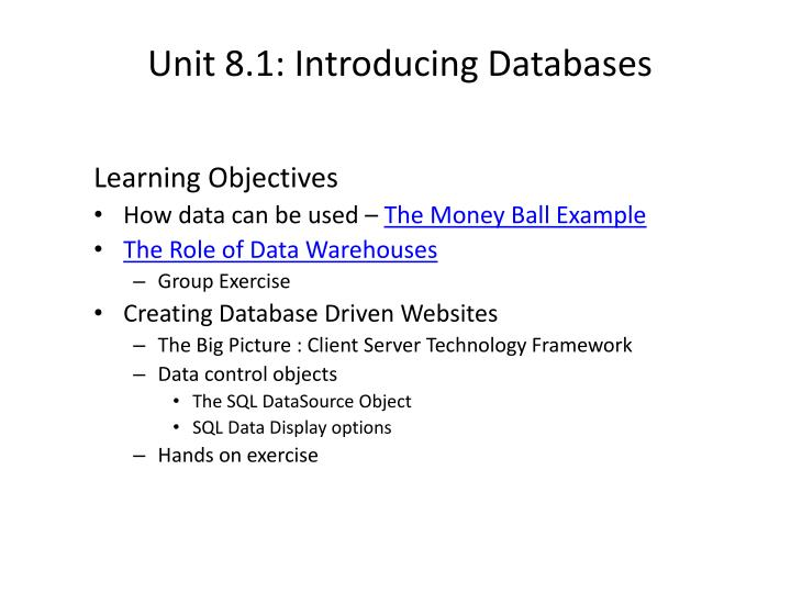 unit 8 1 introducing databases n.