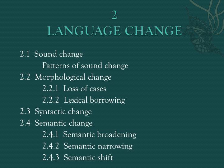 semantic change narrowing