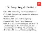 der lange weg der initiative