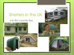 shelters in the uk