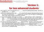 version 1 for less advanced students