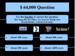 64 000 question