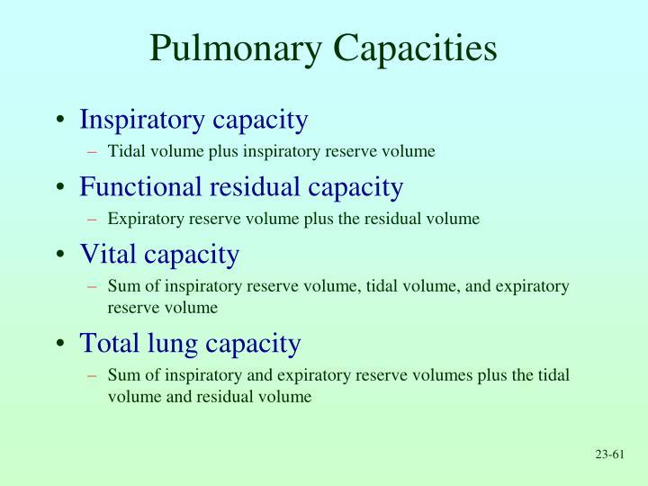 Pulmonary Capacities