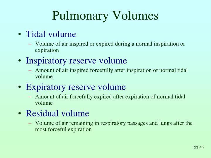 Pulmonary Volumes