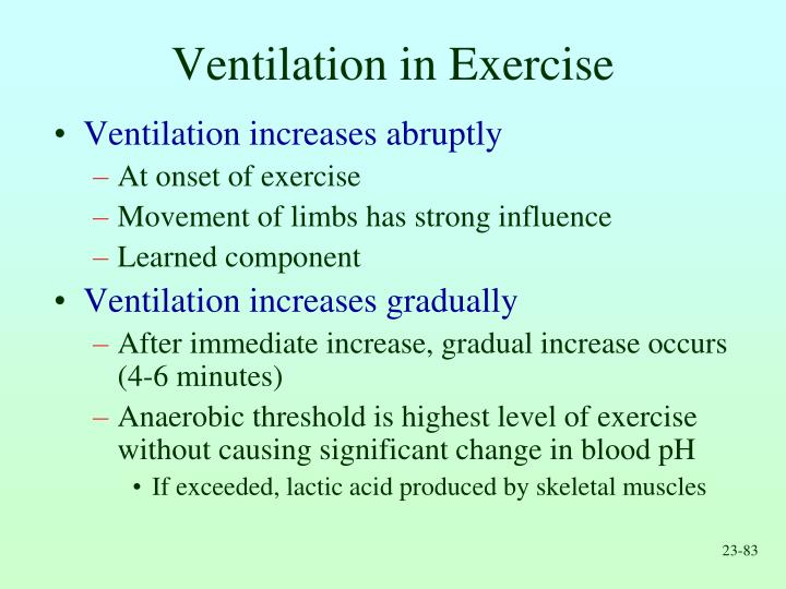Ventilation in Exercise